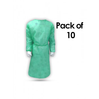 Isolation Gown (Disposable 25 GSM) Pack of 10