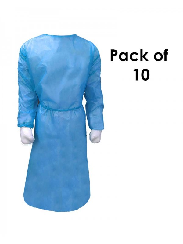 Isolation Gown (Disposable 50 GSM) Pack of 10
